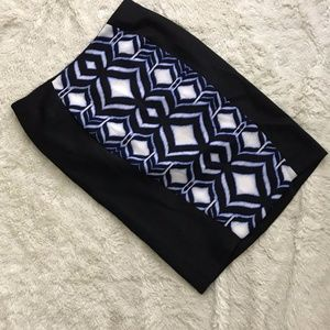 Lane Bryant Black Tribal Print Pencil Skirt
